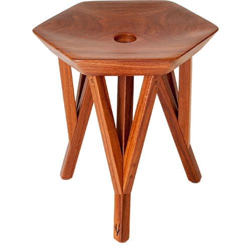 rango stool wood brazilian design