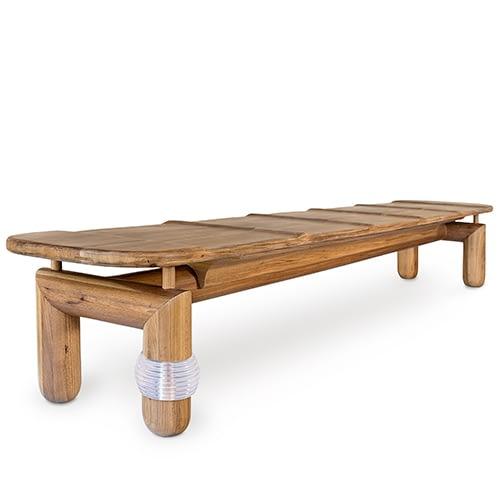 brazilian design bench wood designer Leo Romano